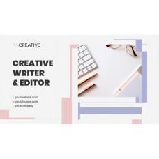 Creative Writer & Editor PowerPoint Template